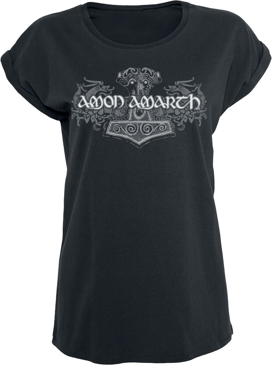Image of   Amon Amarth Viking Horses Girlie trøje sort