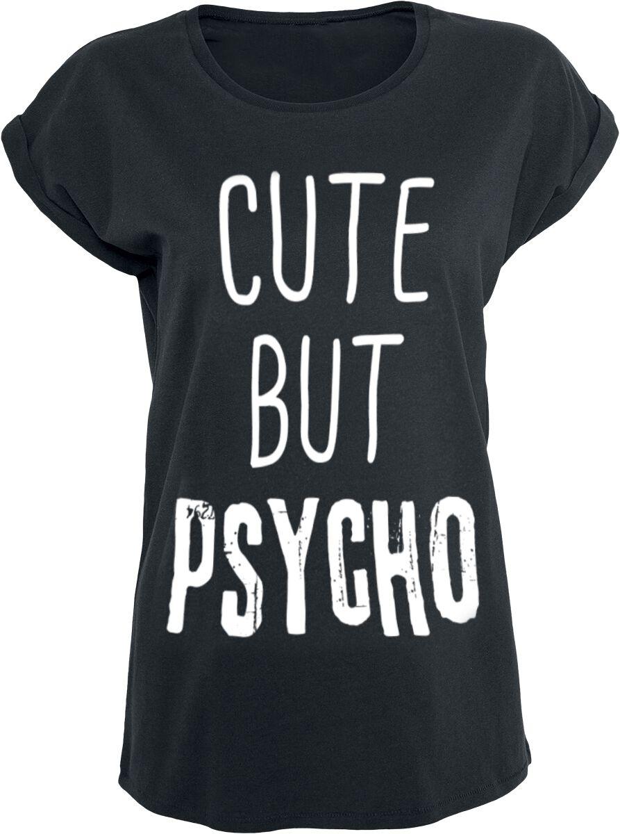 Fun Shirts - Koszulki - Koszulka damska Cute But Psycho Koszulka damska czarny - 362257