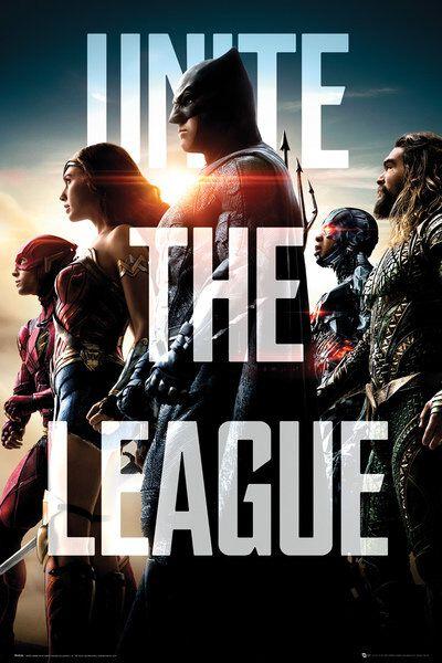Image of   Justice League Unite The League Plakat multifarvet