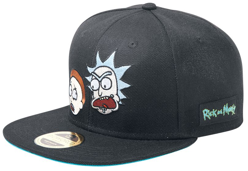 Image of   Rick And Morty Big Faces Snapback Cap sort