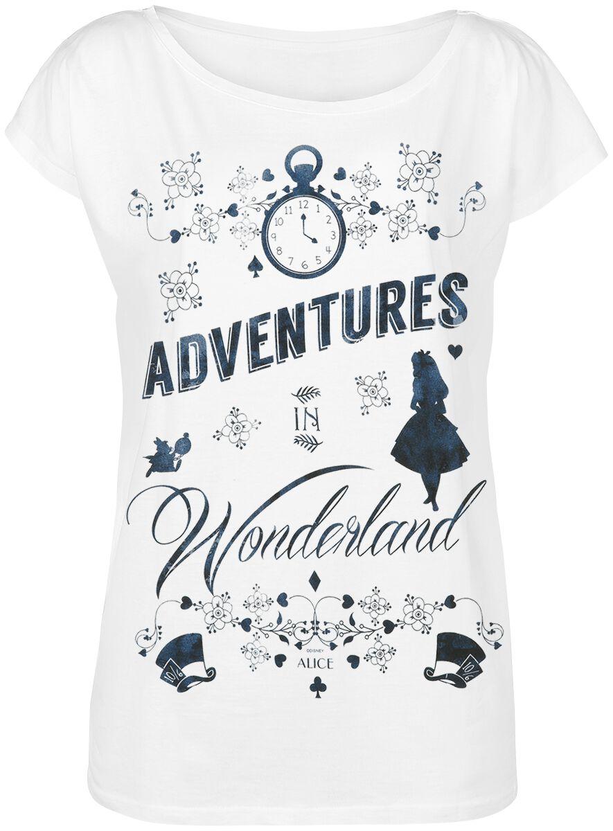 Image of   Alice i Eventyrland Eventyr i Eventyrland Girlie trøje hvid