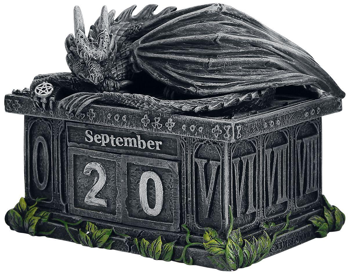 Image of   Nemesis Now Fortune's Keeper Calendar Bordpynt koks-grøn