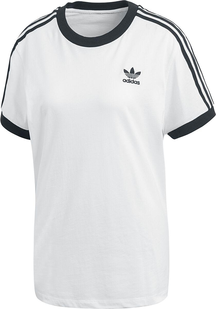 Image of   Adidas 3 Stripes Tee Girlie trøje hvid-sort