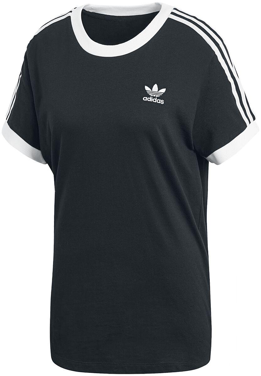Image of   Adidas 3 Stripes Tee Girlie trøje sort-hvid