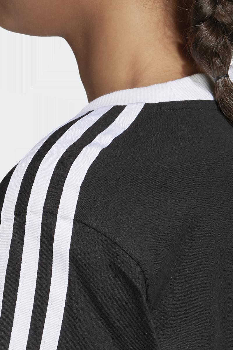 Image of Adidas 3 Stripes Tee Girl-Shirt schwarz/weiß