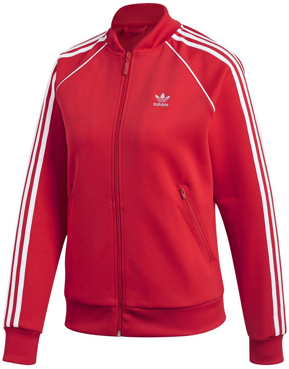 Marki - Kurtki - Kurtka treningowa damska Adidas SST TT Kurtka treningowa damska czerwony/biały - 362682