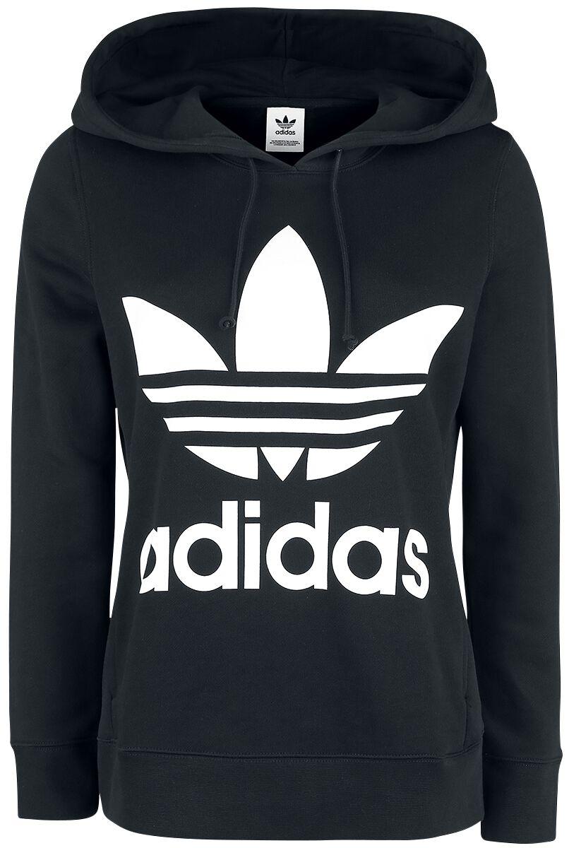 734de21fa4075 Adidas Trefoil Hoodie Bluza z kapturem damska czarny biały