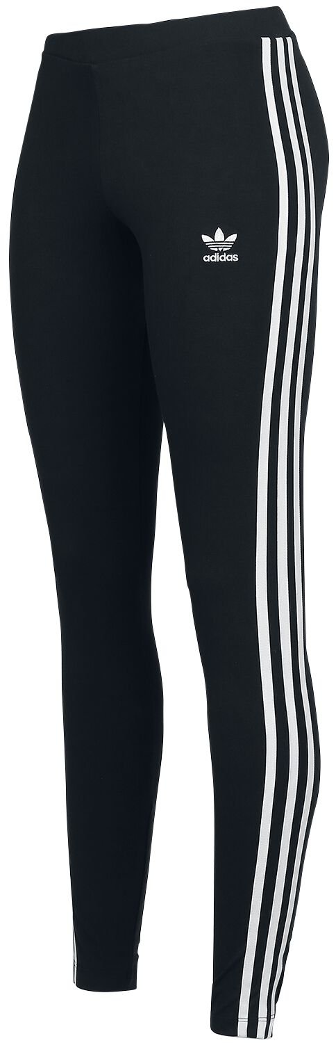 Image of   Adidas 3 STR Tight Leggings sort-hvid