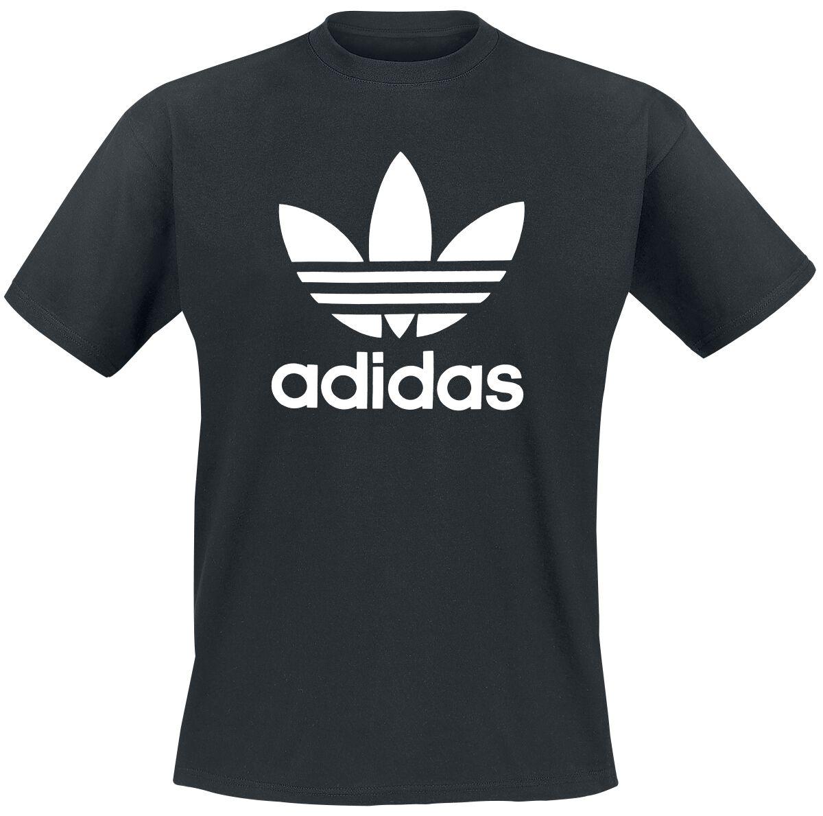 Image of   Adidas Trefoil T-Shirt T-Shirt sort-hvid