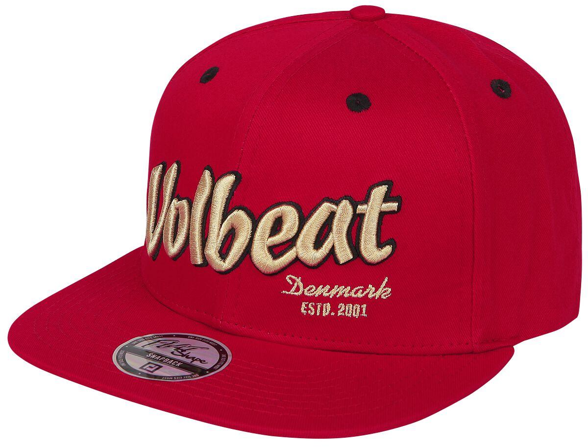 Image of   Volbeat Logo Snapback Cap rød