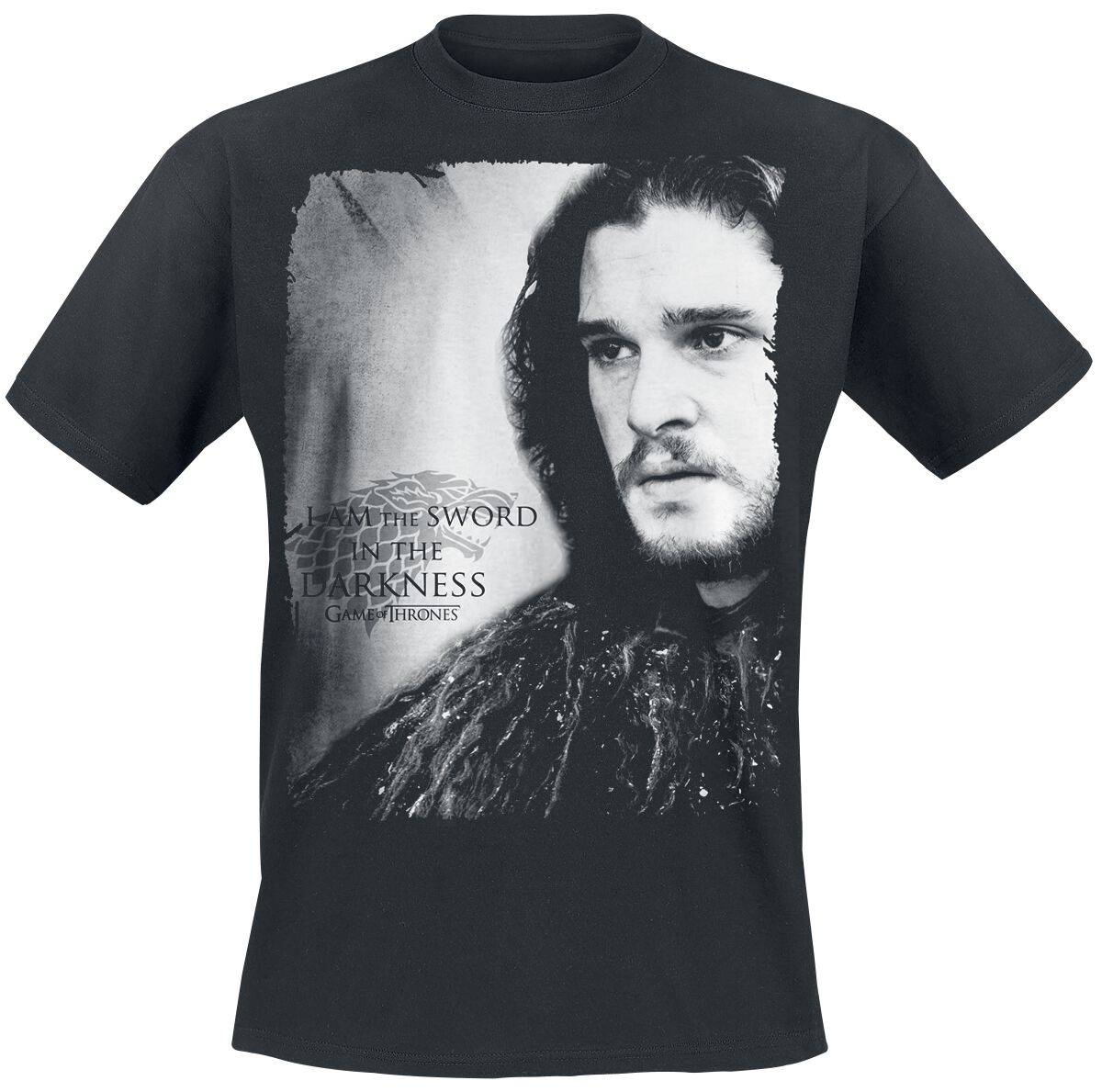 Image of   Game Of Thrones Jon Snow - I Am The Sword In The Darkness T-Shirt sort
