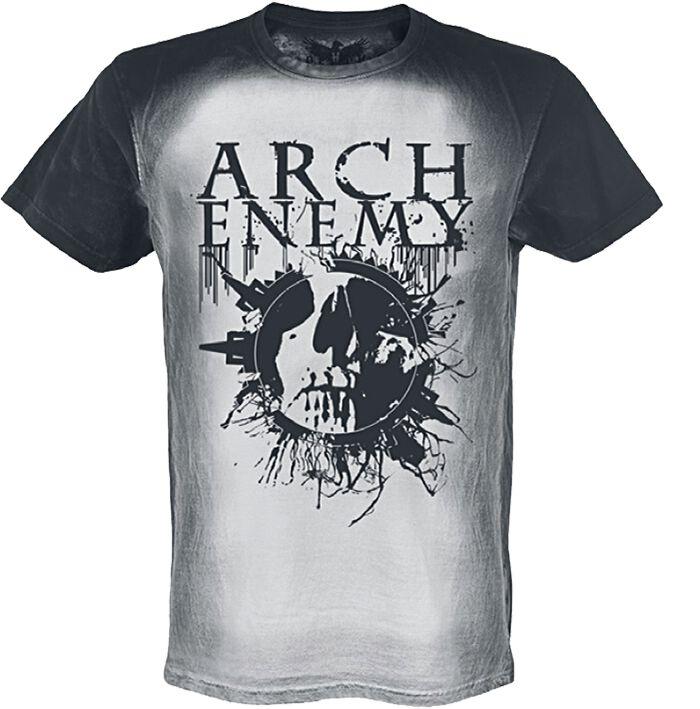 Zespoły - Koszulki - T-Shirt Arch Enemy Logo Skull T-Shirt szary/czarny - 362818