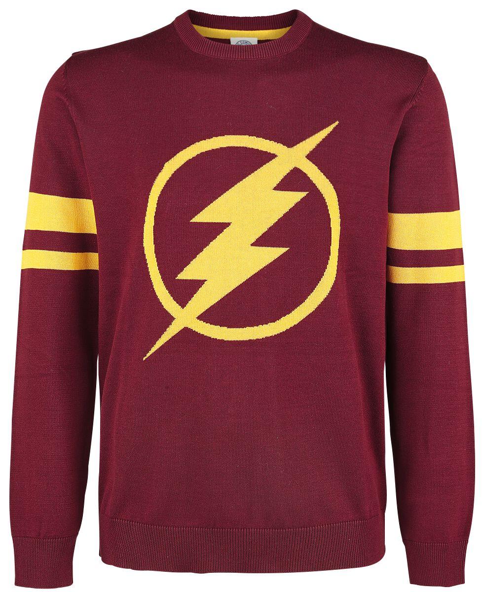 Merch dla Fanów - Bluzy - Sweter The Flash Logo Sweter burgund - 362842