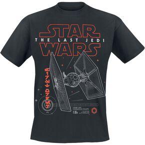 Star Wars Episode 8 - The Last Jedi - Tie Fighter - Superiority Fighter T-shirt noir