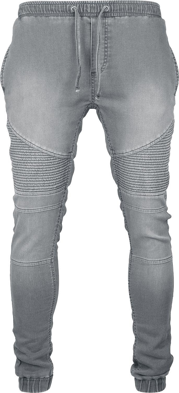 Image of   Urban Classics Biker Denim Joggpants Jeans grå