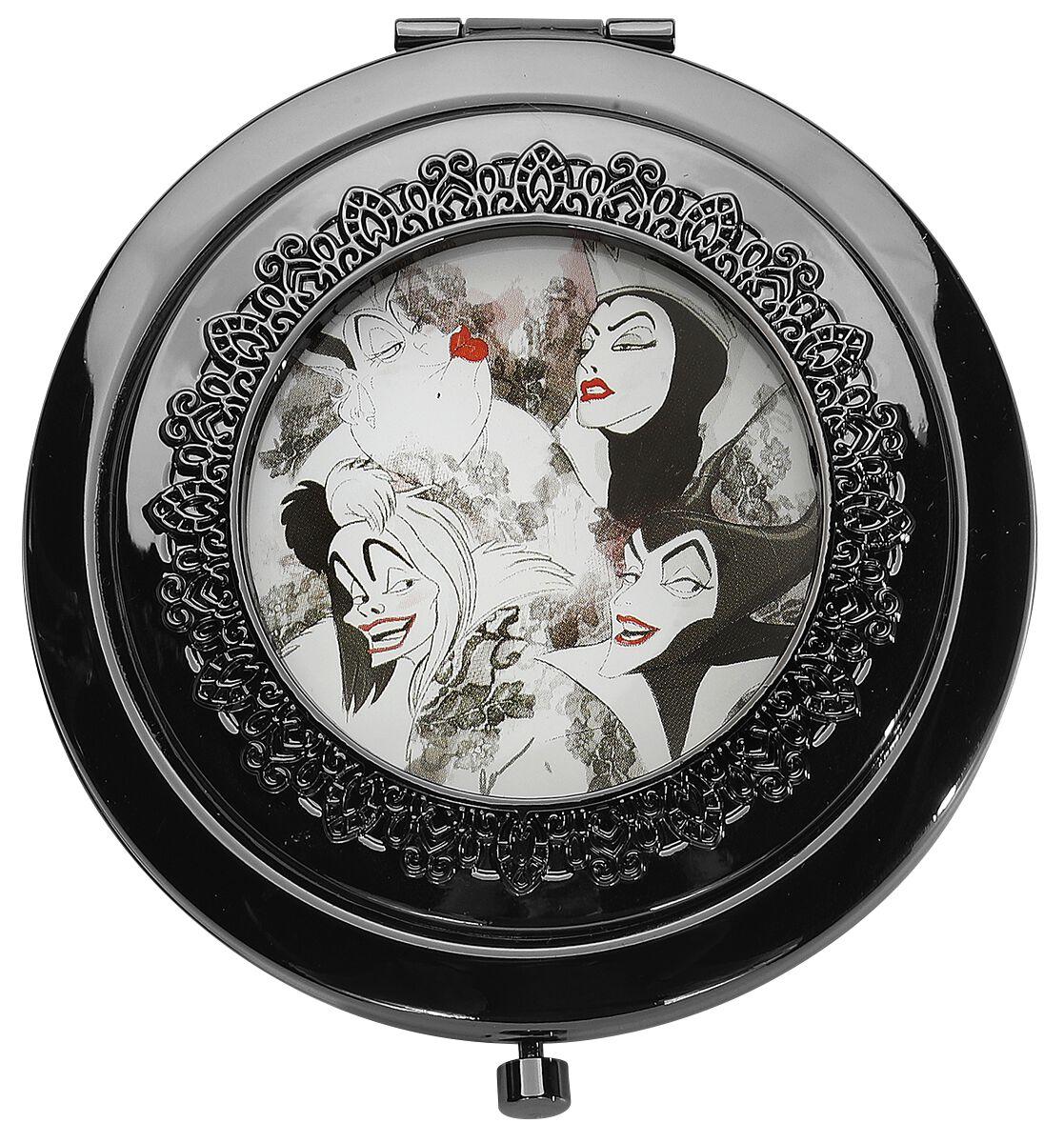 Merch dla Fanów - Kosmetyki - Lusterko kieszonkowe Disney Villains Perfectly Wicked Lusterko kieszonkowe srebrny - 363051