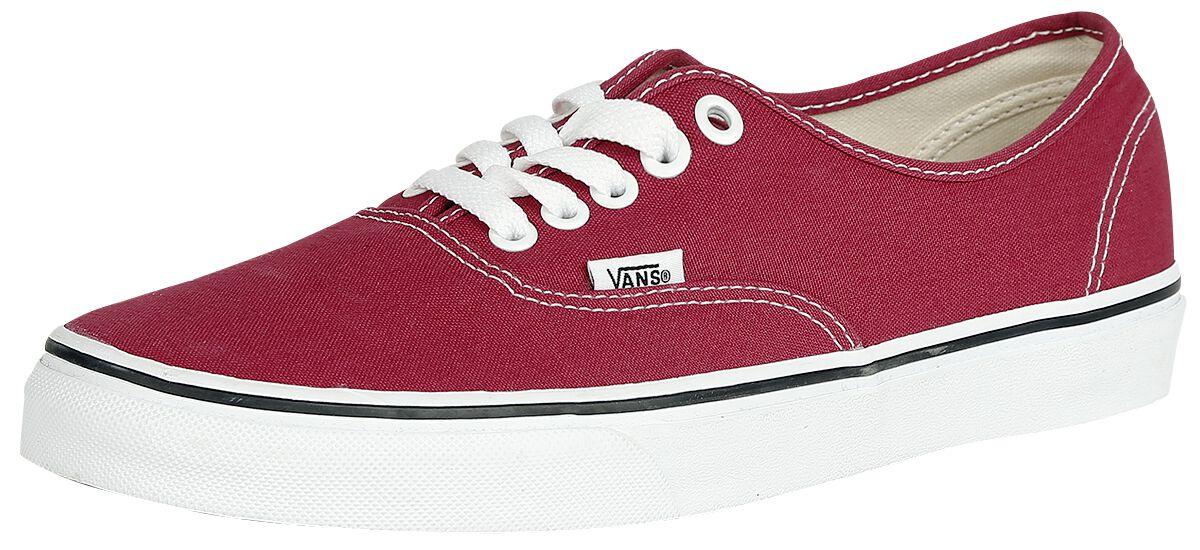 Image of   Vans Authentic Sneakers rød-hvid