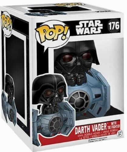 Image of   Star Wars Darth Vader With Tie Fighter Vinyl Figure 176 Samlefigur Standard