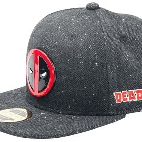 Marvel Deadpool Metal Badge Logo Snapback - Charcoal