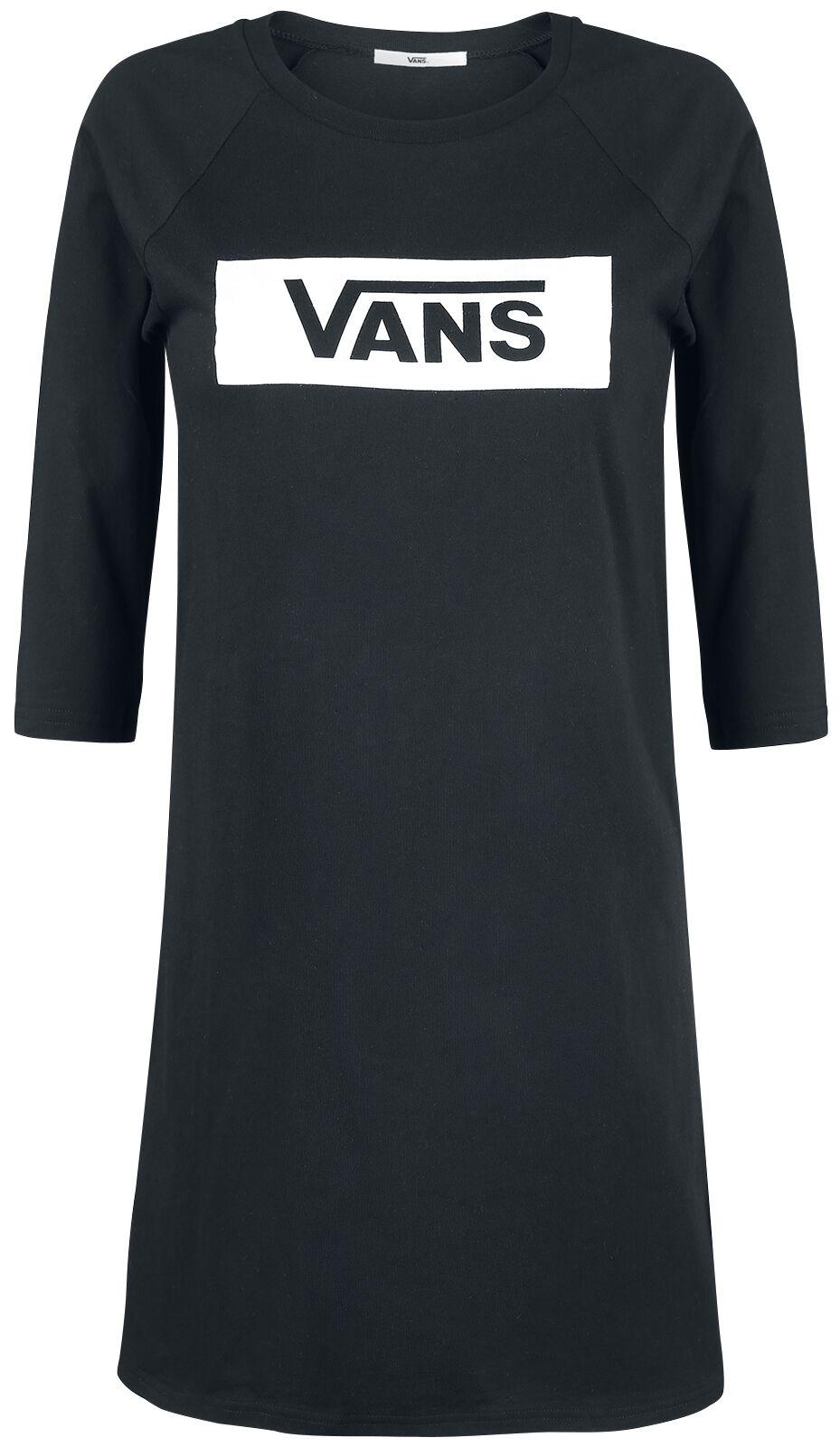 Image of   Vans Open Road Raglan Dress Kjole sort-hvid