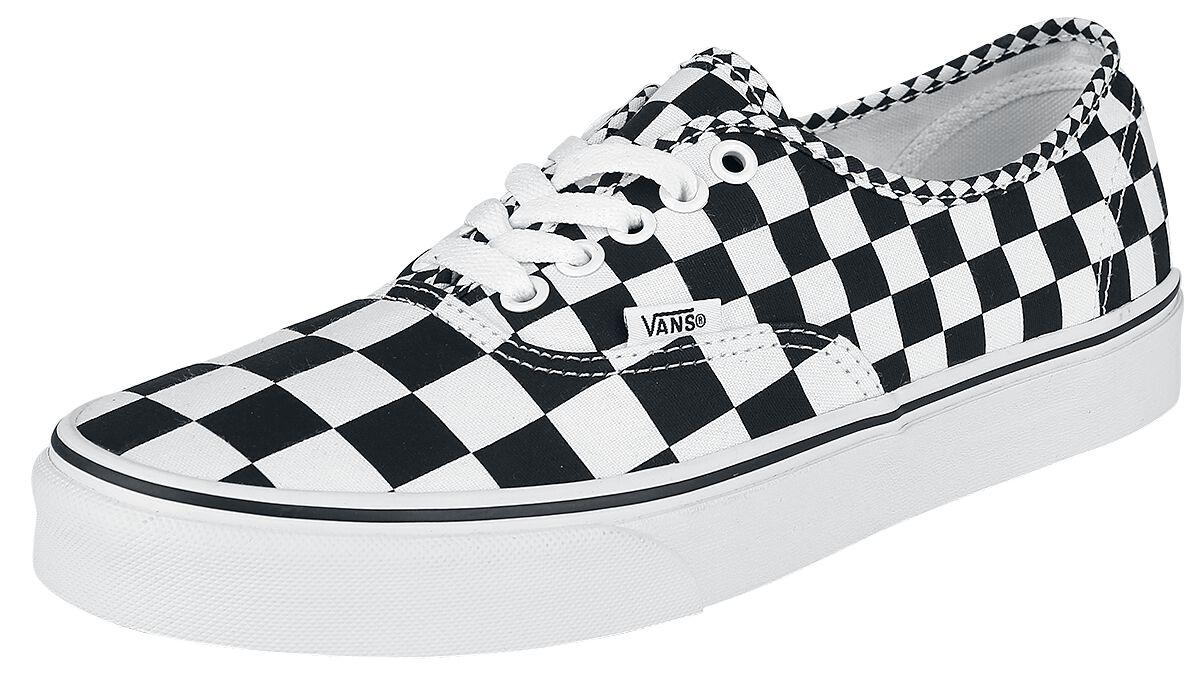 Image of   Vans Authentic Checkerboard Sneakers sort-hvid