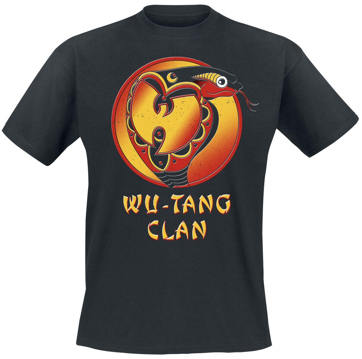 Zespoły - Koszulki - T-Shirt Wu Tang Clan Black Cobra Logo T-Shirt czarny - 363140