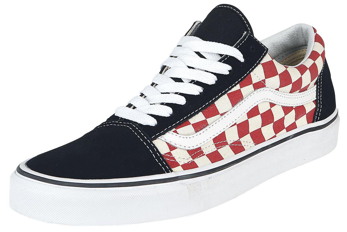 Image of   Vans Old Skool Checkerboard Sneakers sort-rød-hvid