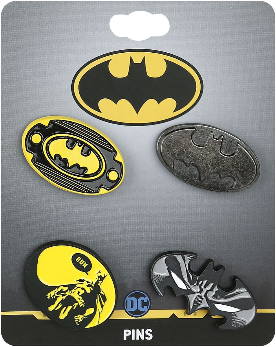 Image of   Batman Logos Nålesæt multifarvet