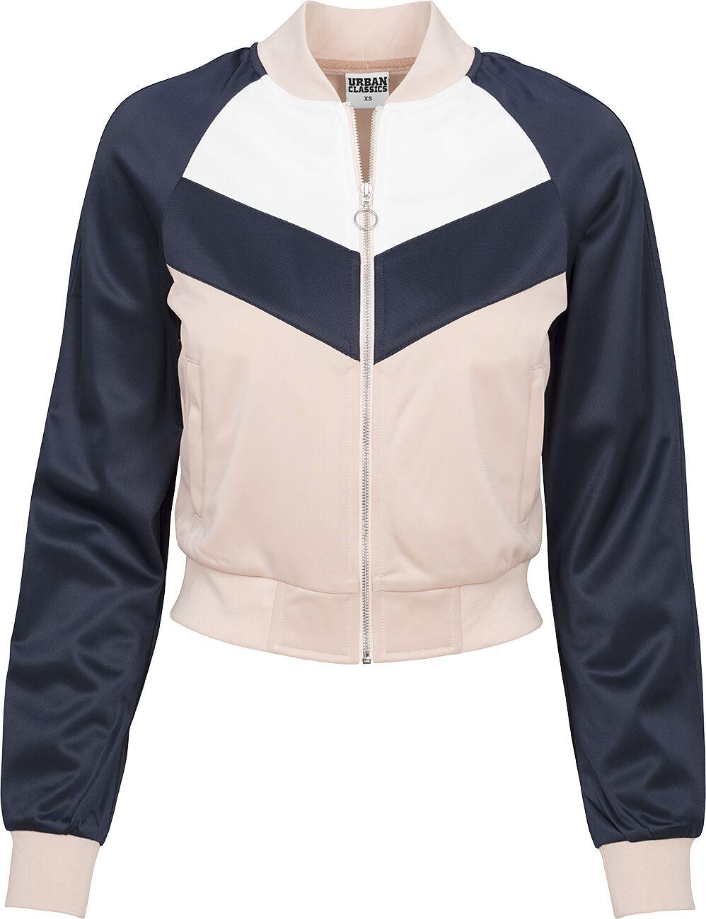 Marki - Kurtki - Kurtka treningowa damska Urban Classics Ladies Short Raglan Track Jacket Kurtka treningowa damska różowy/błękitny/biały - 363298