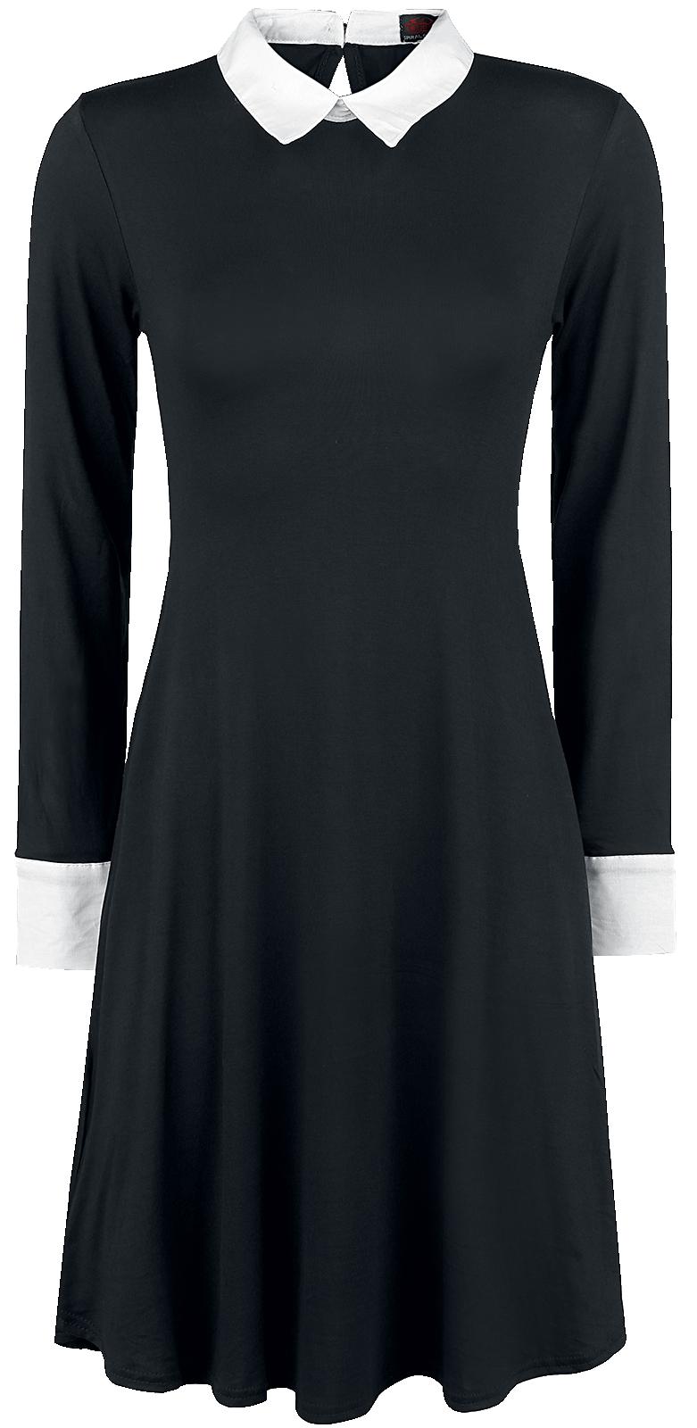 Spiral Gothic Rock Sukienka czarny
