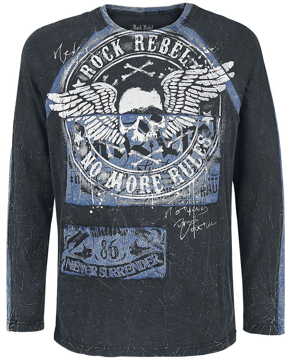 Image of   Rock Rebel by EMP Break The Circle Langærmet sort-blå