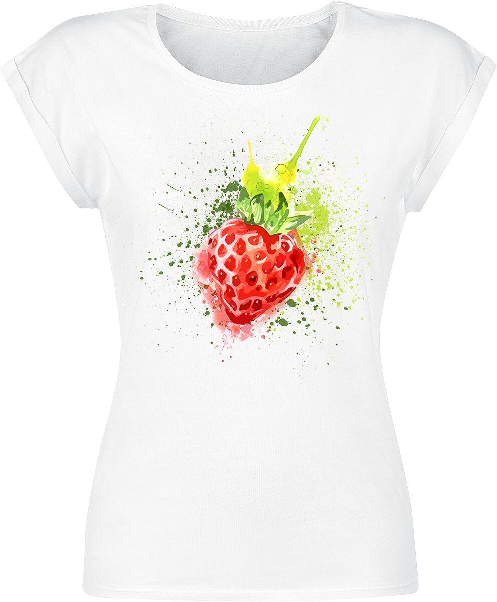 Fun Shirts - Koszulki - Koszulka damska Erdbeere Koszulka damska biały - 363344