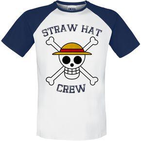 One Piece Straw Hat Crew T-shirt blanc/bleu