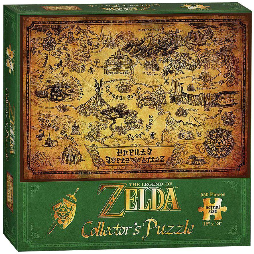 Image of   The Legend Of Zelda Hyrule Map (Puslespil) Puslespil & samlesæt Standard