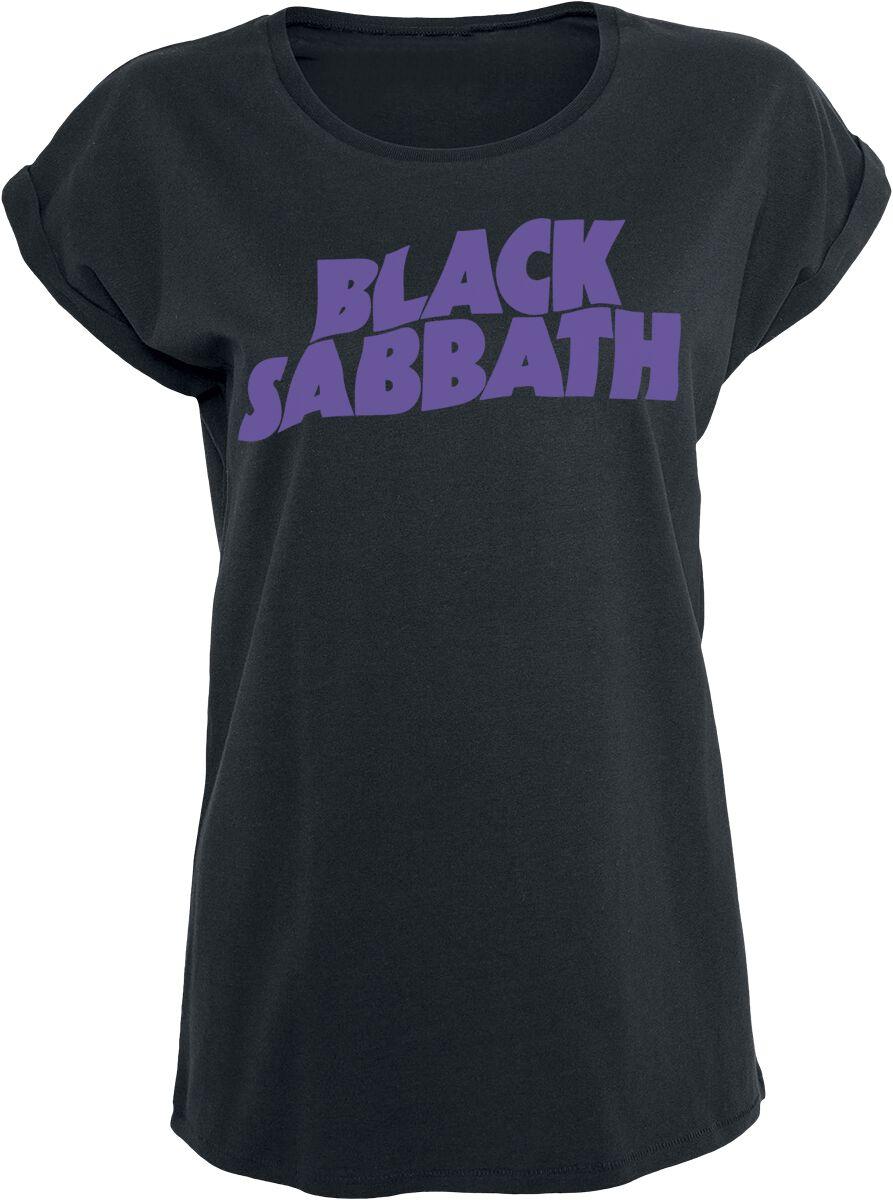 Black Sabbath Logo Koszulka damska czarny