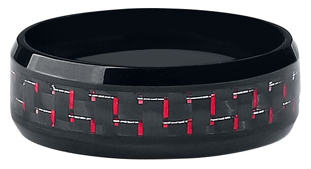 Image of   Wildcat Chrome Ring sort-rød