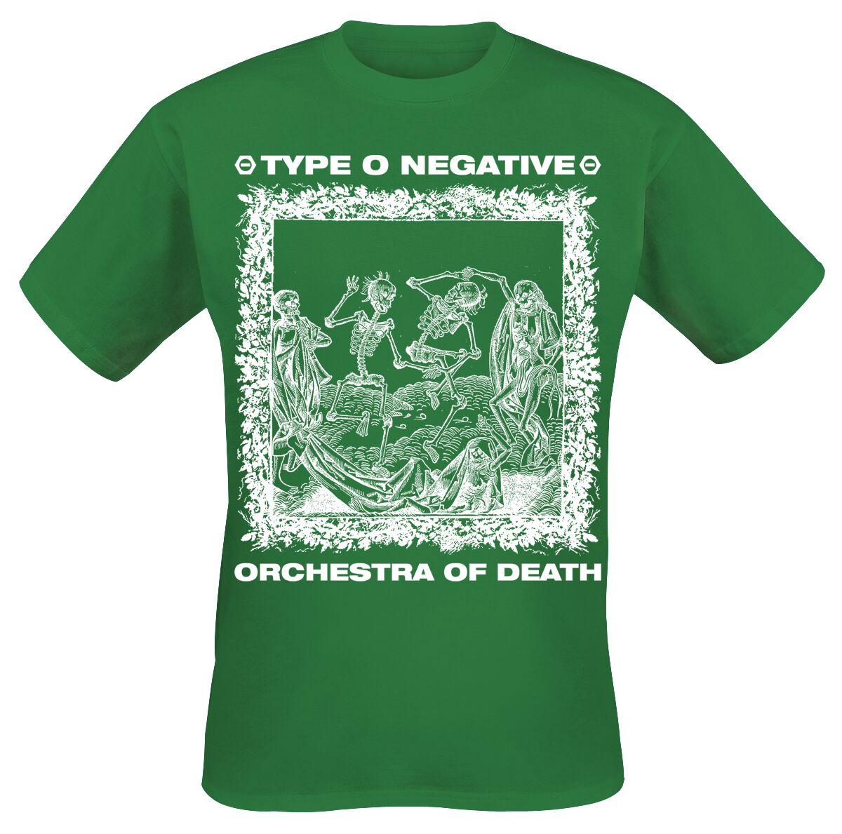 Zespoły - Koszulki - T-Shirt Type O Negative Orchestra Of Death T-Shirt zielony - 363536