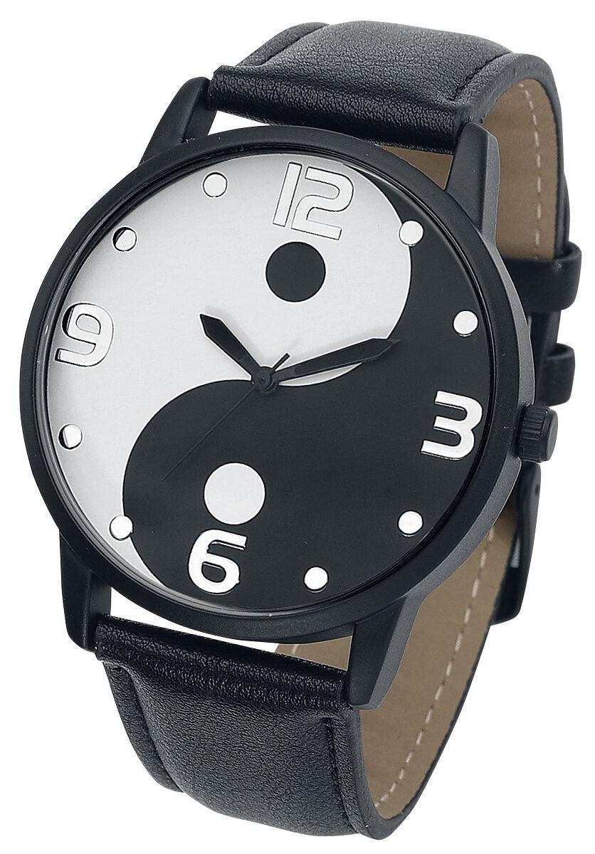 Uhren für Frauen - Yin Yang Armbanduhr schwarz weiß  - Onlineshop EMP