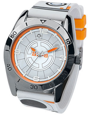 Image of   Star Wars BB-8 Armbåndsur sort-hvid-orange