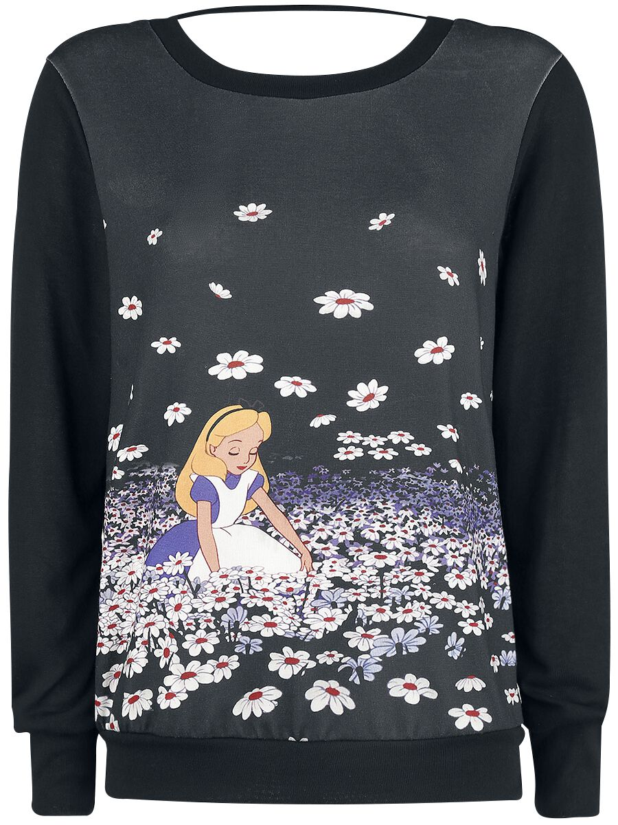 Image of   Alice i Eventyrland Flowers Girlie sweater multifarvet