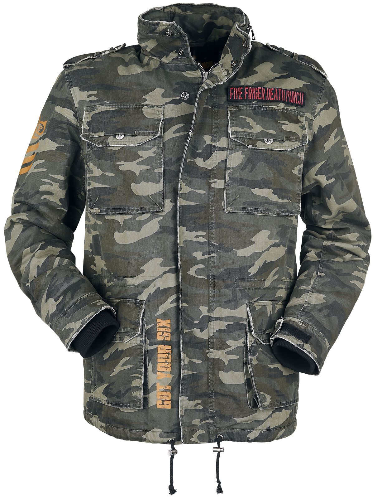 Image of   Five Finger Death Punch EMP Signature Collection Jakke camouflage olivengrøn