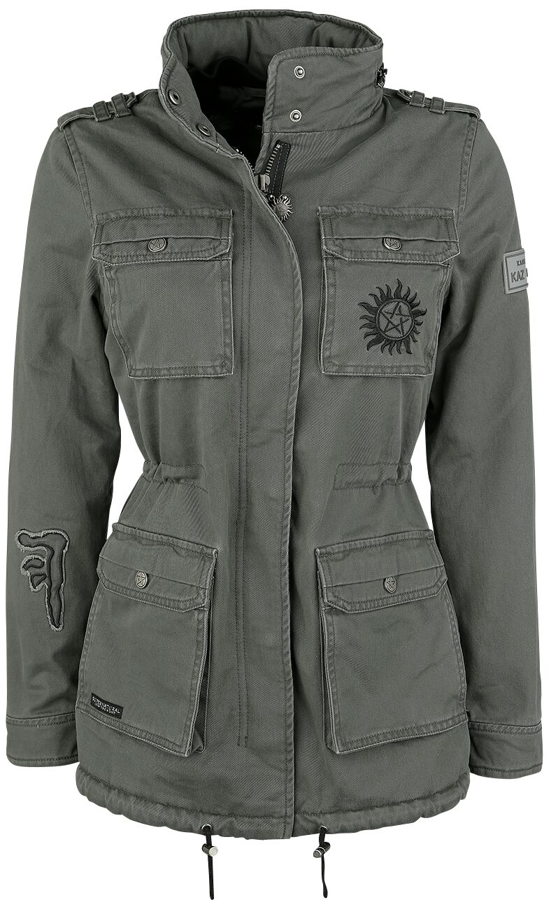 Image of   Supernatural Saving People Hunting Things Girlie jakke khaki