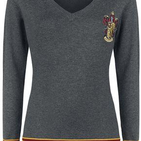 Harry Potter Gryffondor Pull Femme gris chiné