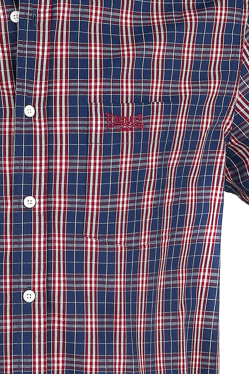 Image of Lonsdale London Brixworth Hemd rot/weiß/blau