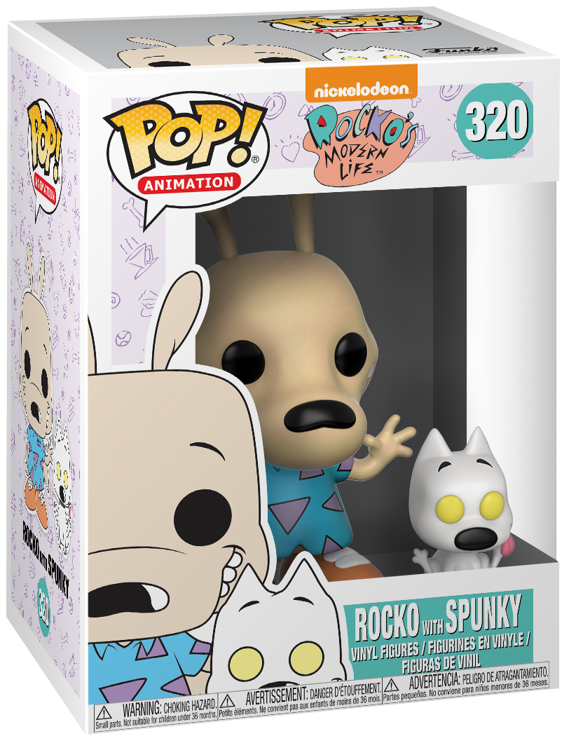 90's Nickelodeon - Rocko with Spunky (Chase Edition Possible) Vinyl Figure 320 - Collector's figure - Standard