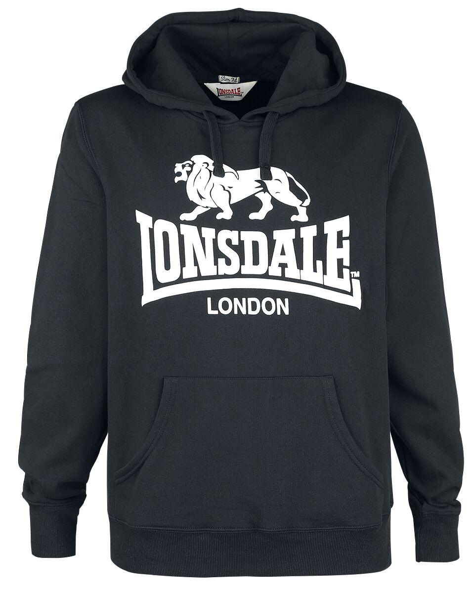 Marki - Bluzy z kapturem - Bluza z kapturem Lonsdale London Gosport 2 Bluza z kapturem czarny - 363684