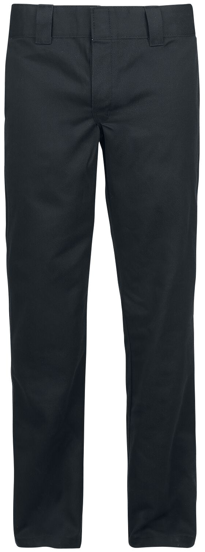 Image of   Dickies 873 Slim Straight Work Pant - Rinsed Black Chino bukser sort-brugt look