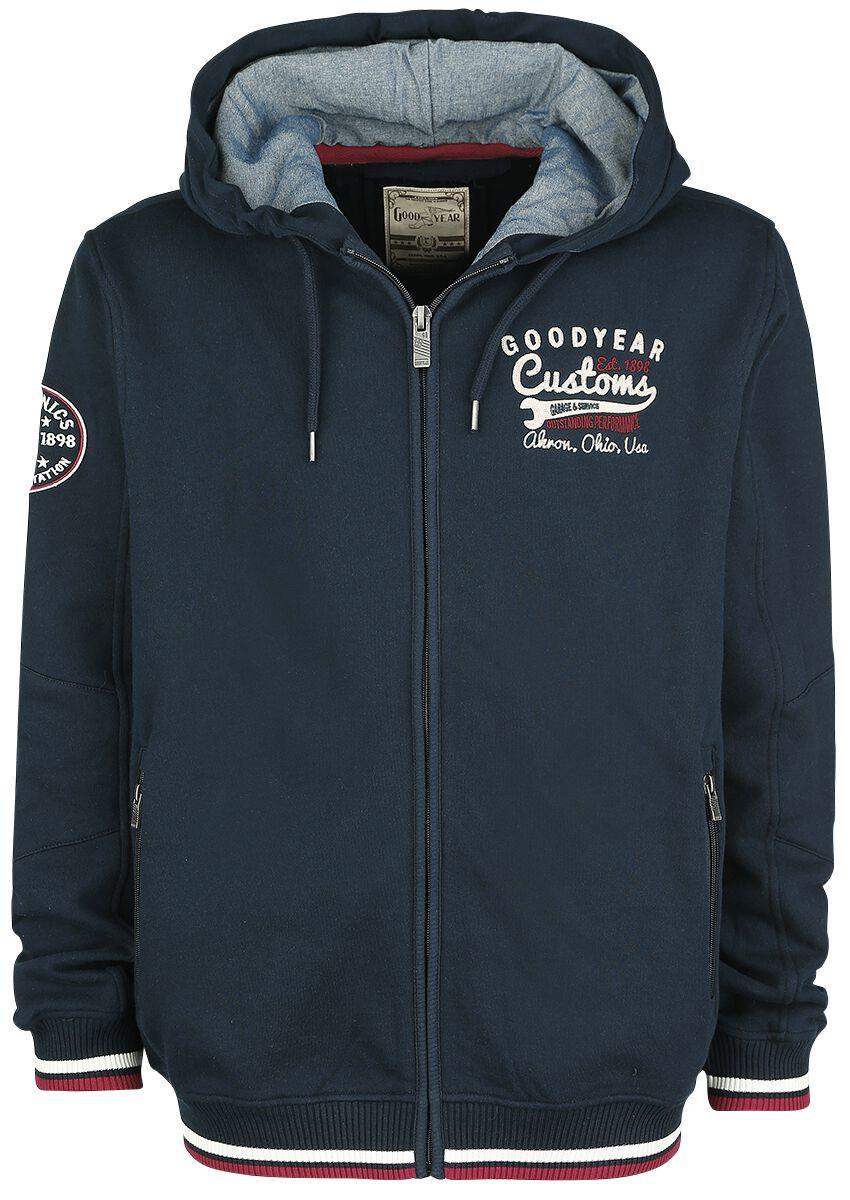 Marki - Bluzy z kapturem - Bluza z kapturem rozpinana GoodYear Ohio Service Bluza z kapturem rozpinana ciemnoniebieski - 363781