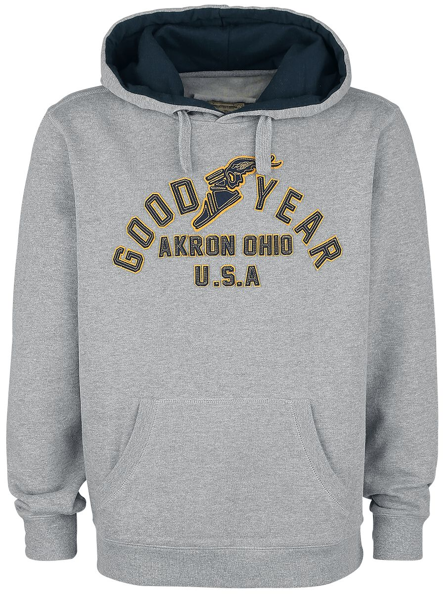 Marki - Bluzy z kapturem - Bluza z kapturem GoodYear Flying Ohio Bluza z kapturem szary - 363798