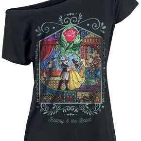 La Belle Et La Bête Window T-shirt Femme noir